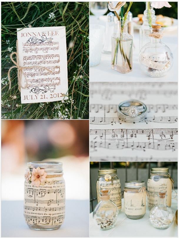Декор для музыкальной свадьбы