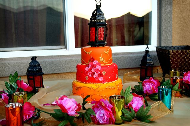 Торт на свадьбу в моракканском стиле
