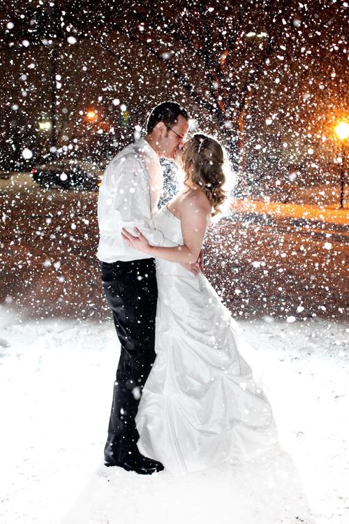 Съемка свадьбы зимой