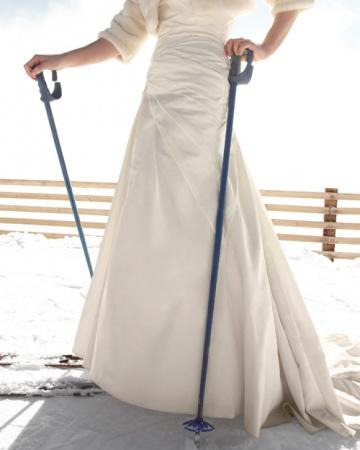 Невеста на лыжах