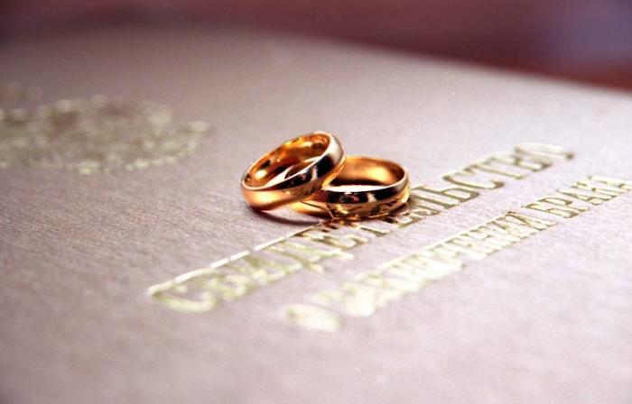 Церемония заключения брака