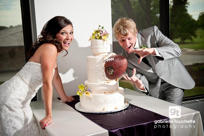 Спортивный свадебный торт