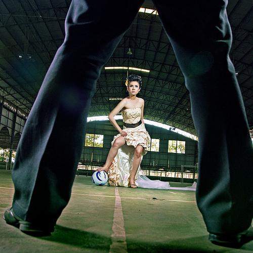 Спортивная свадебная съемка