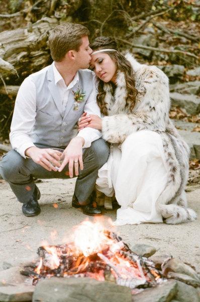 Шуба из натурального меха на свадьбу