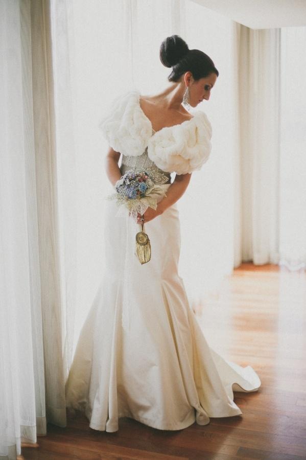 Горжетка из меха на свадьбу