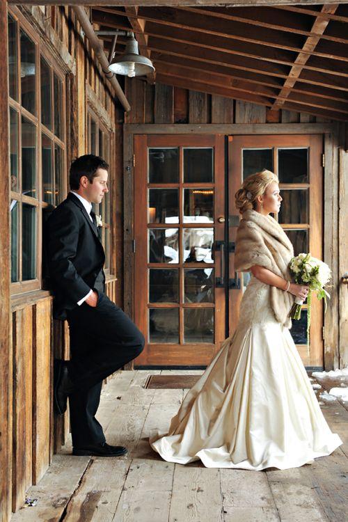 Меховая накидка невесты