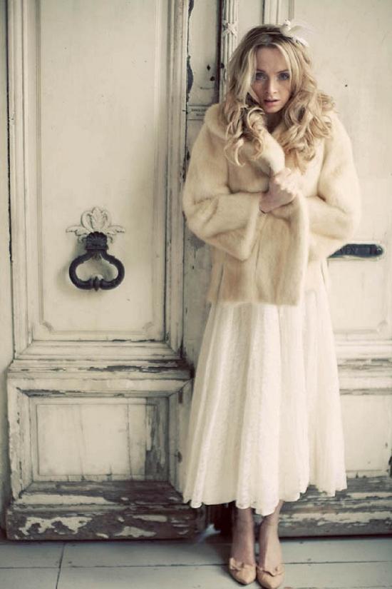 Меховое пальто невесты