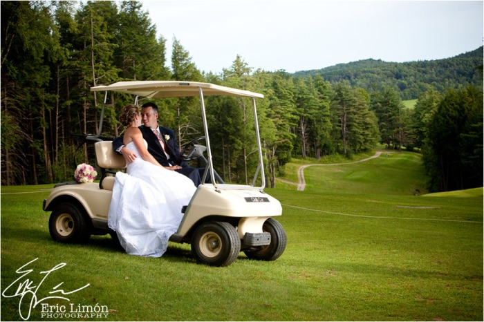 Свадебная съемка на гольф-поле