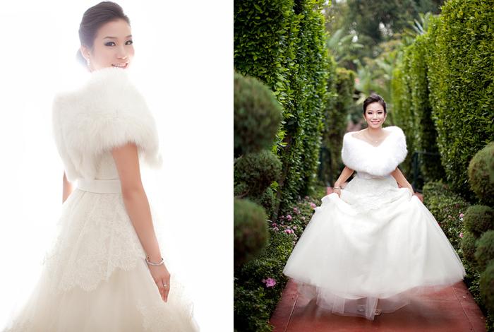 Белая горжетка на свадьбу