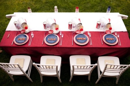 Декор стола для детей