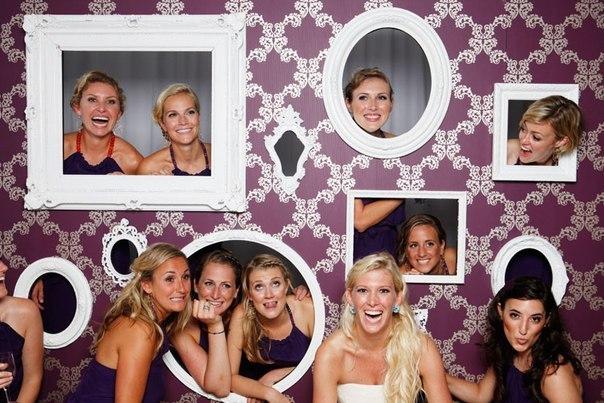 Фотостена из рамок на свадьбу