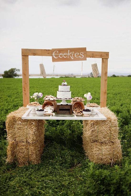 Свадебный стол с печеньями