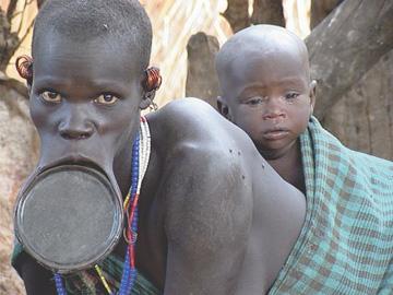 Женщины племени Сурма