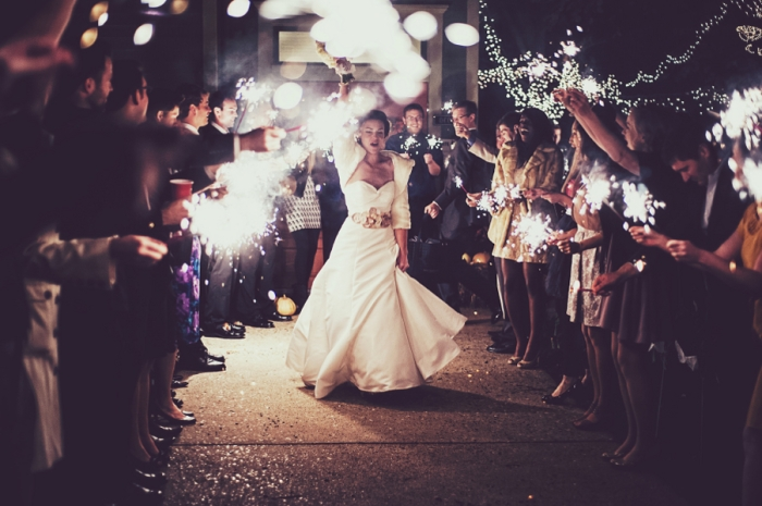 Финал свадебного торжества