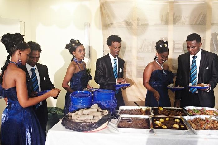 Свадебный банкет в Эфиопии