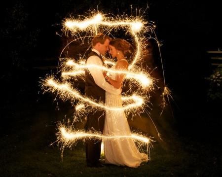 Свадьба с бенгальскими огнями