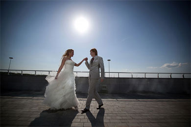 Свадьба жарким летом
