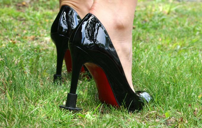 Свадьба на природе - защитите свои туфли