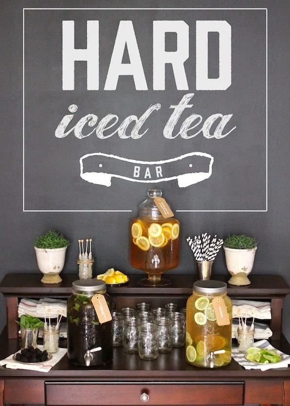Прохладный чай на свадьбе летом