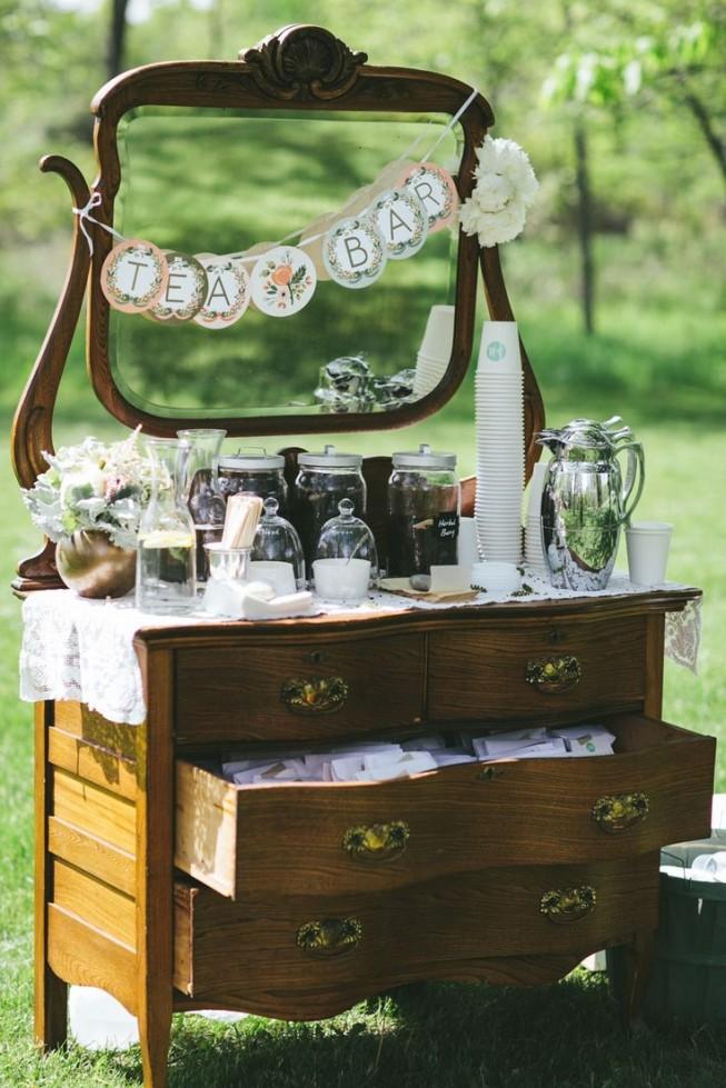Чайный бар на свадьбе