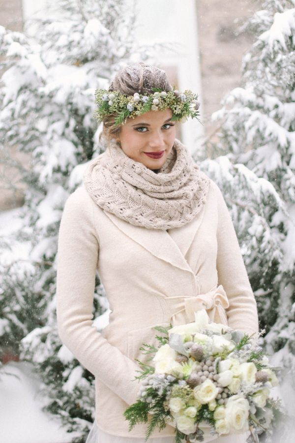 Зимний венок для невесты