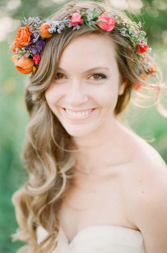 Красивый венок невесты