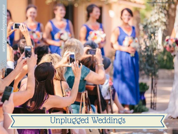 Свадебный этикет - не фотографируйте на гаджеты