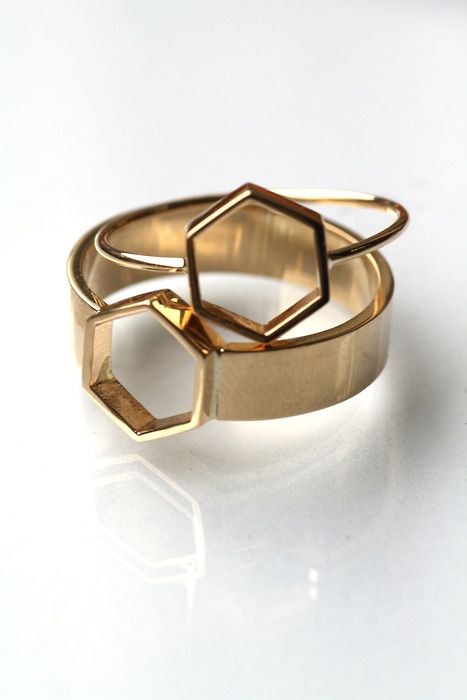"""Обручальные кольца """"соты"""""""