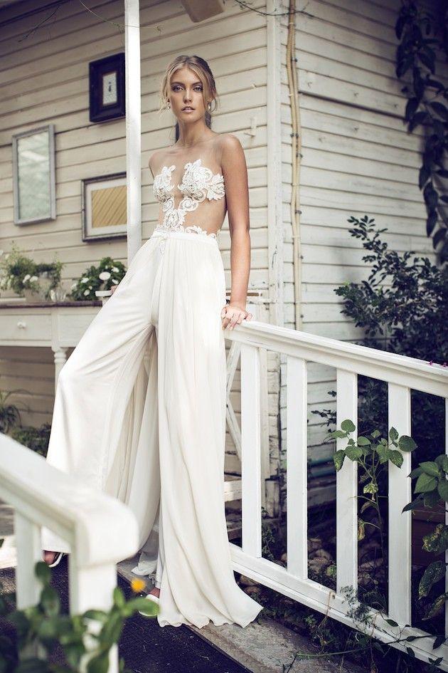Авангардный наряд невесты
