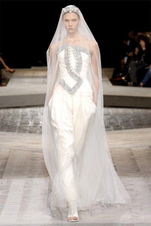 Брючный наряд невесты