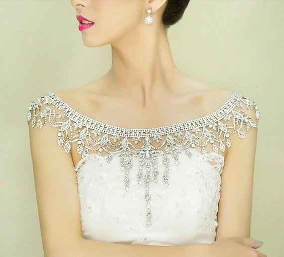 Плечное ожерелье невесте