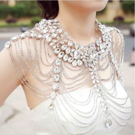 Свадебное ожерелье на плечи