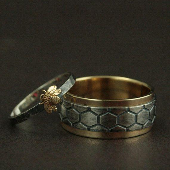 Пчелиные кольца для жениха и невесты
