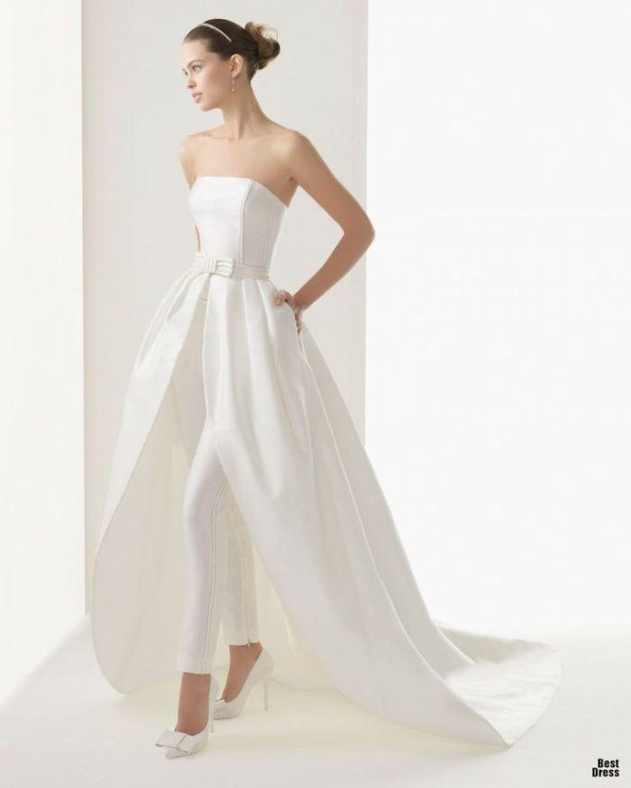 Свадебное платье с лосинами