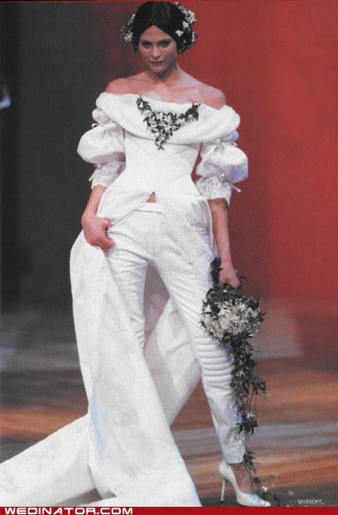 Образ невесты с брюками