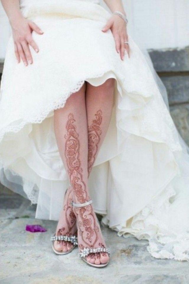 Роспись хной на американской свадьбе