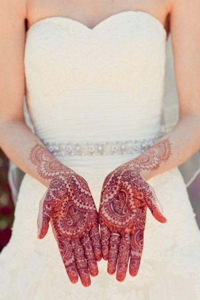 Свадебный орнамент хной