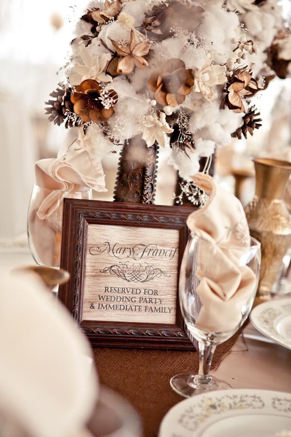 Хлопковое оформление свадьбы