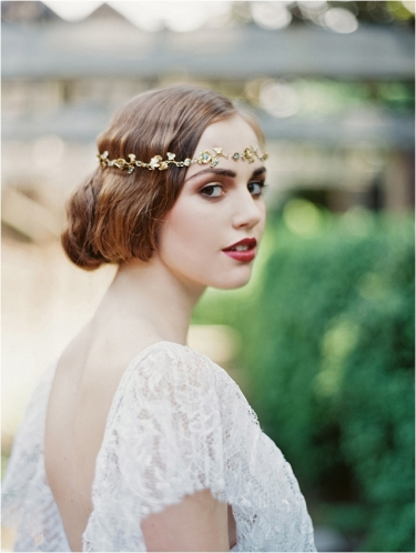 vintage-short-wedding-hairstyle