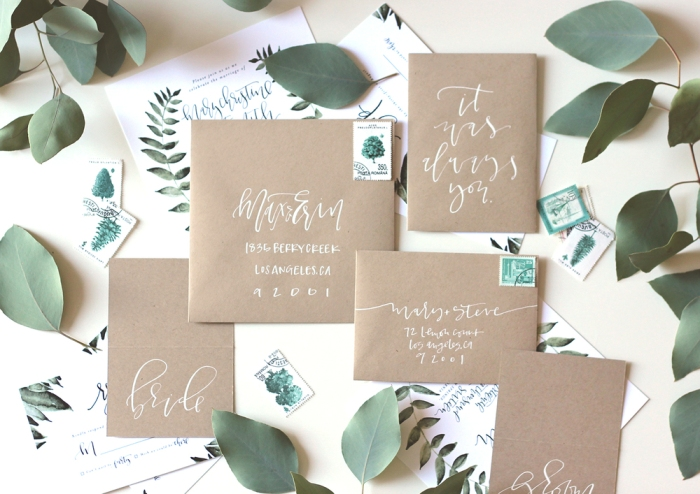 Modern+calligraphy+wedding+suite+-+A+Fabulous+Fete