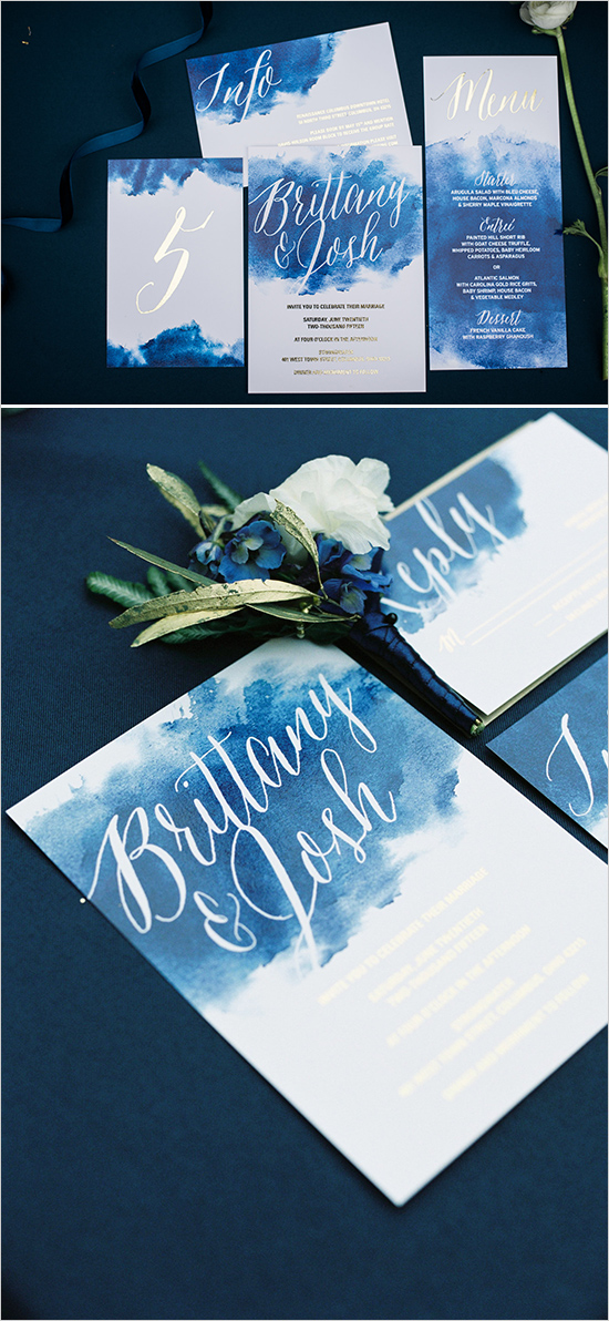 watercolordeepblueweddingstationery
