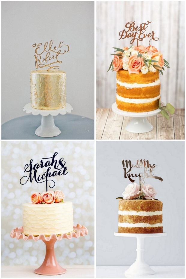 wedding-cake-trends-2016-calligraphy-toppers-words1